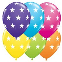 Big Stars Balloons (Assortment) - 11 Inch Balloons 6pcs